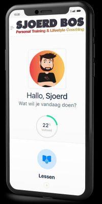Online Coaching Portal voorbeeld mobiel telefoon Personal Training Sjoerd Bos Heiloo